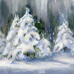 Cecy Turner - Snow Covered Pines in Watercolor Mini Workshop