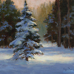 Cecy Turner - Snow Covered Pine in Oil Mini Workshop