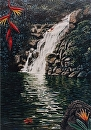 """Waimea Waterfall With Diver"" by Bill Braden Oil ~ 20 inches x 28 inches"