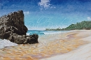 """Temple of Waves""  Waimea Bay by Bill Braden Oil ~ 30 inches x 40 inches"