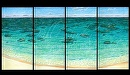 """Mokuleia Reef"" by Bill Braden Oil ~ (4) @ 2 feet x 6 feet"