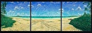 """Twin Seas"" Kailua Beach by Bill Braden Oil ~ (3) @ 3 feet x 3 feet"