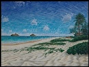 """Sand Angel"" Lanikai Beach by Bill Braden Oil ~ 30"" x 40"""