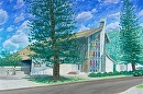 """St Pius X Church""  Manoa by Bill Braden Oil ~ 30 inches x 40 inches"