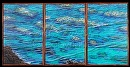 """Reef on the Rocks"" by Bill Braden Oil ~ (3) @ 2 feet x 3 feet"