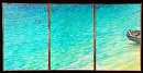 """Sandbar Kaneohe"" by Bill Braden Oil ~ (3) @ 2 feet x 3 feet"