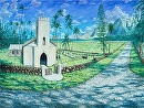 """Father Damiens Church"" Kalaupapa Molokai by Bill Braden Oil ~ 30 inches x 40 inches"