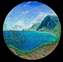 """Kalaupapa Round"" by Bill Braden  ~ 3 feet x 3 feet"