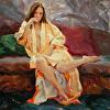 Silvia in Orange Kimono