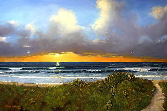 Early Morning at the Beach - Oil