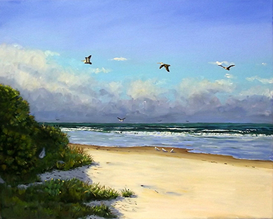 A beautiful Day at the Beach - Oil