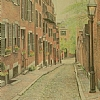 Acorn street, Boston by Alain Lutz Pencil ~  x