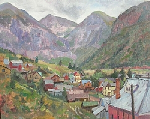 Telluride by Alain Lutz Oil ~ 16 x 20