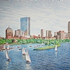 Back Bay, Boston by Alain Lutz Pencil ~ 16 x 24