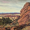 The Rock over land of ranches by Alain Lutz Oil ~ 16 x 20