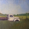 Old Ford truck at Chama by Alain Lutz Oil ~ 10 x 12