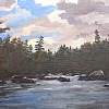 Nahmakanta Lake way out , Maine by Alain Lutz Oil ~ 10 x 14