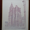 Cath�drale de Strasbourg by Alain Lutz Pencil ~ 19 1/2 x 15