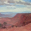 Canyon lands by Alain Lutz Oil ~ 14 x 18