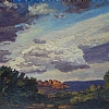 Clouds composition at Sedona by Alain Lutz Oil ~ 10 x 14