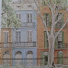 Maison de  William Faulkner, Nouvelle Orl�ans by Alain Lutz Pencil ~ 16 1/4 x 12