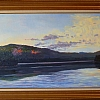 Rainbow Lake Memories, Maine by Alain Lutz Oil ~ 17 x 30