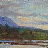 Mont Katahdin, Maine by Alain Lutz Oil ~ 5 1/2 x 8