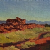 Mur du cimetrière, Galisteo, NM by Alain Lutz Oil ~ 6 x 10
