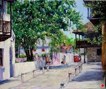 Hypolita Street by Linda Holmes Oil ~ 20 x 24
