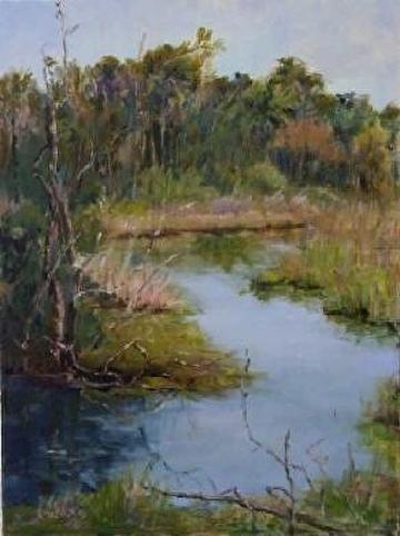 Marsh 1 by Linda Holmes Oil ~ 24` x 18