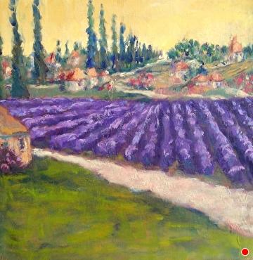 Lavender Farm by Linda Holmes Oil ~ 10 x 10