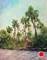 Hanna Park Palms 2nd view by Linda Holmes Oil ~ 28 x 22
