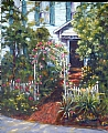 House On St. George Street by Linda Holmes Oil ~ 24 x 20