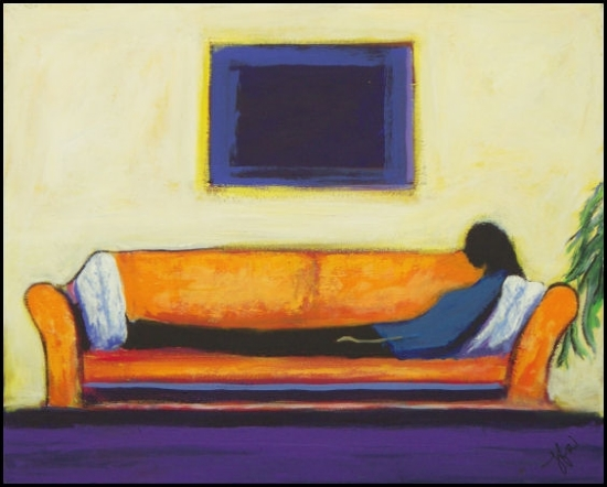Hard at Rest by John Strickland Acrylic ~ 24 inches x 30 inches