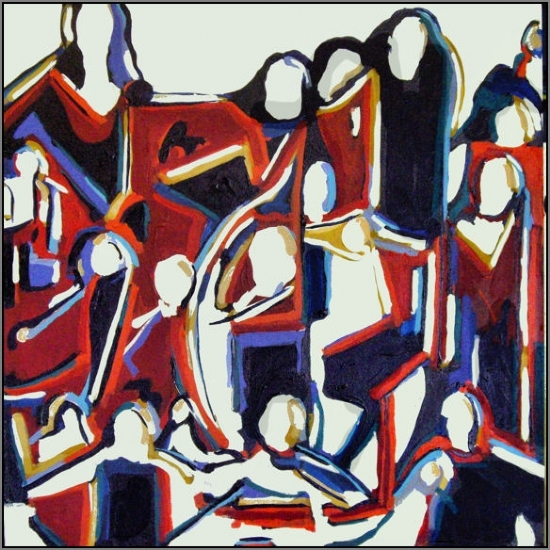Group Portrait 2 by John Strickland Acrylic ~ 36 inches x 36 inches
