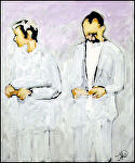 Couple by John Strickland Acrylic ~ 24 inches x 18 inches