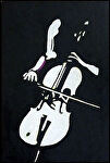 Cellist 5 by John Strickland Acrylic ~ 36 inches x 24 inches