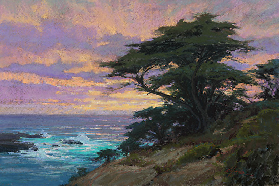 A Day of Grace, Pt. Lobos - Pastel