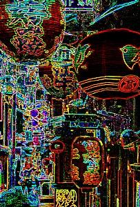 Illuminators of the night by Les Mayers Mixed medium ~  x
