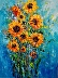 Rising Sunflowers by Wendy Norton