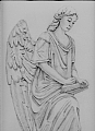 Natchez Turning Angel II by Debra Heard Pencil ~ Approximately 12 1/2 inches x Approximately 10 inches