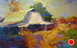Light Across the Barn by Ann Watcher Oil ~ 30 x 48
