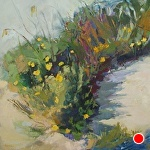 Beach Flowers in the Morning by Ann Watcher Oil ~ 24 x 24