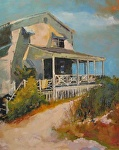 Beach House at Wrightsville by Ann Watcher Oil ~ 30 x 24