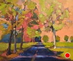 Chartreuse Trees by Ann Watcher Oil ~ 16 x 20