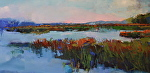Marsh Blues by Ann Watcher Oil ~ 24 x 48