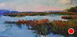 Marsh Blues by Ann Watcher Oil ~ 24 x 48