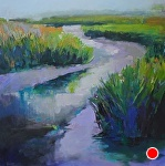 Memory of the Marsh by Ann Watcher Oil ~ 36 x 36