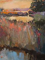 Silence Falling on the Marsh II by Ann Watcher Oil ~ 40 x 30