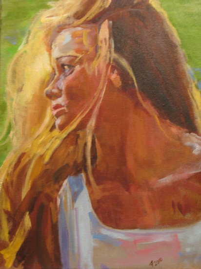 Gabbi by Ann Watcher Oil ~ 18 x 12